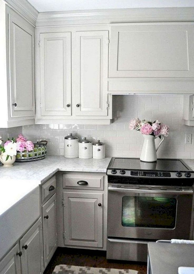 70 gorgeous gray kitchen cabinet makeover design ideas new kitchen cabinets gray kitchen on kitchen decor grey cabinets id=72269