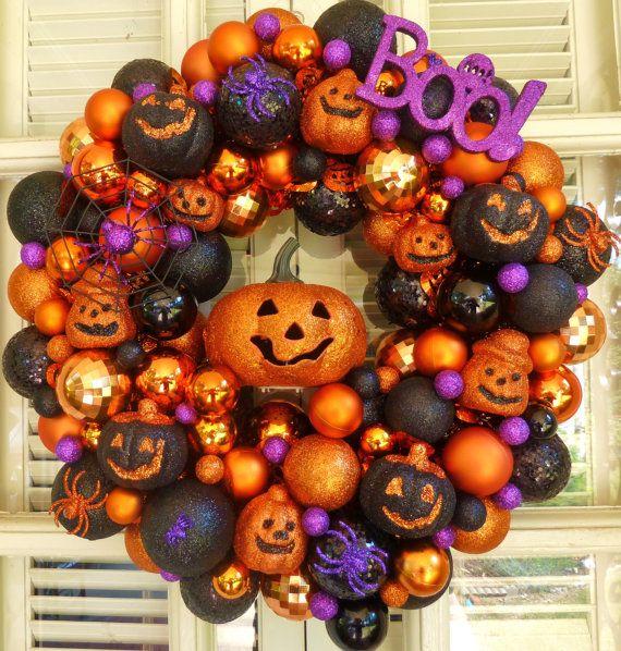 Boo Halloween Ornament Wreath  Ornament by MemphisMomWreaths, $65.00