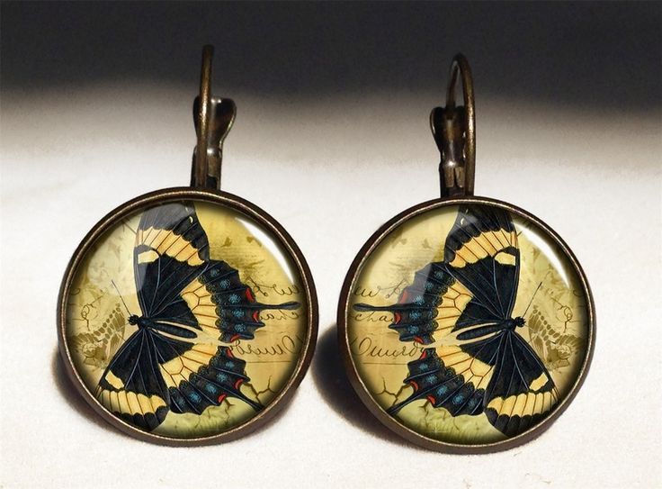 Butterfly Big Earrings, 0704ERB from EgginEgg by DaWanda.com