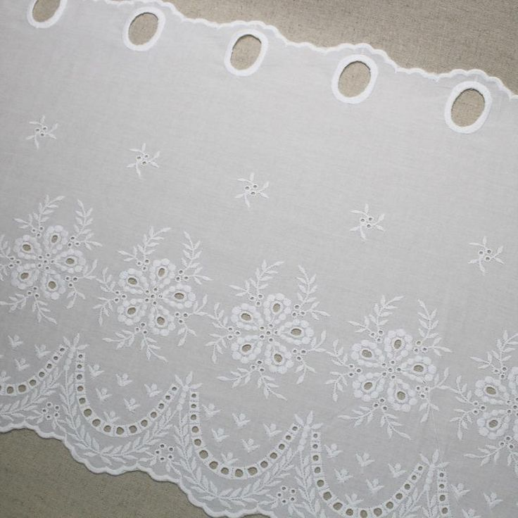 1y Vintage Embroidered Lace Window Valance Curtain Yh1424 Etsy In 2021 Lace Window Lace Valances Embroidered Lace