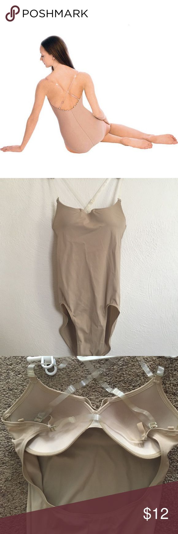 Bodywrappers Nude Dance Leotard Nude colored dance camisole, designed to fit under your performance wear. Comes with clear straps and a bra sewn in. Never worn. Intimates & Sleepwear Shapewear