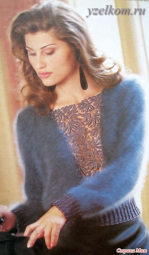 Пуловер со вставкой - Страна Мам