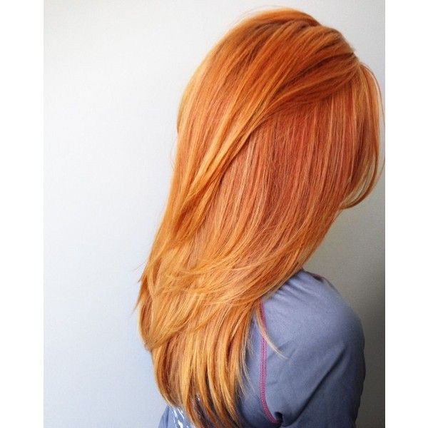 Red Orange Hair Color with Long Layers and Fav Products - Hair by Alexa Shaw   COLORED GIRLZ. ..   Pinterest