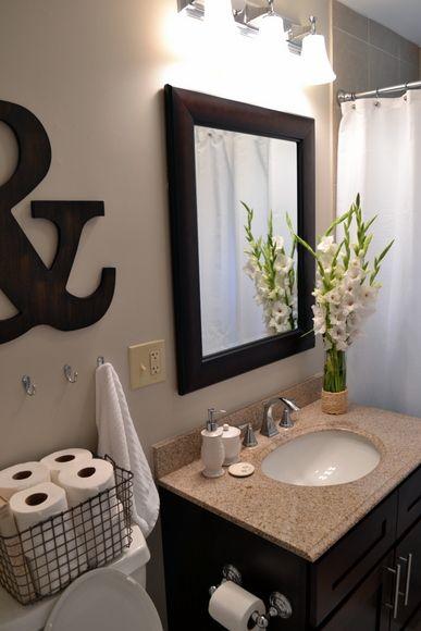 Best 25+ Simple Bathroom Makeover Ideas On Pinterest | Inspired Small  Bathrooms, Small Half Bathrooms And Half Bathroom Decor