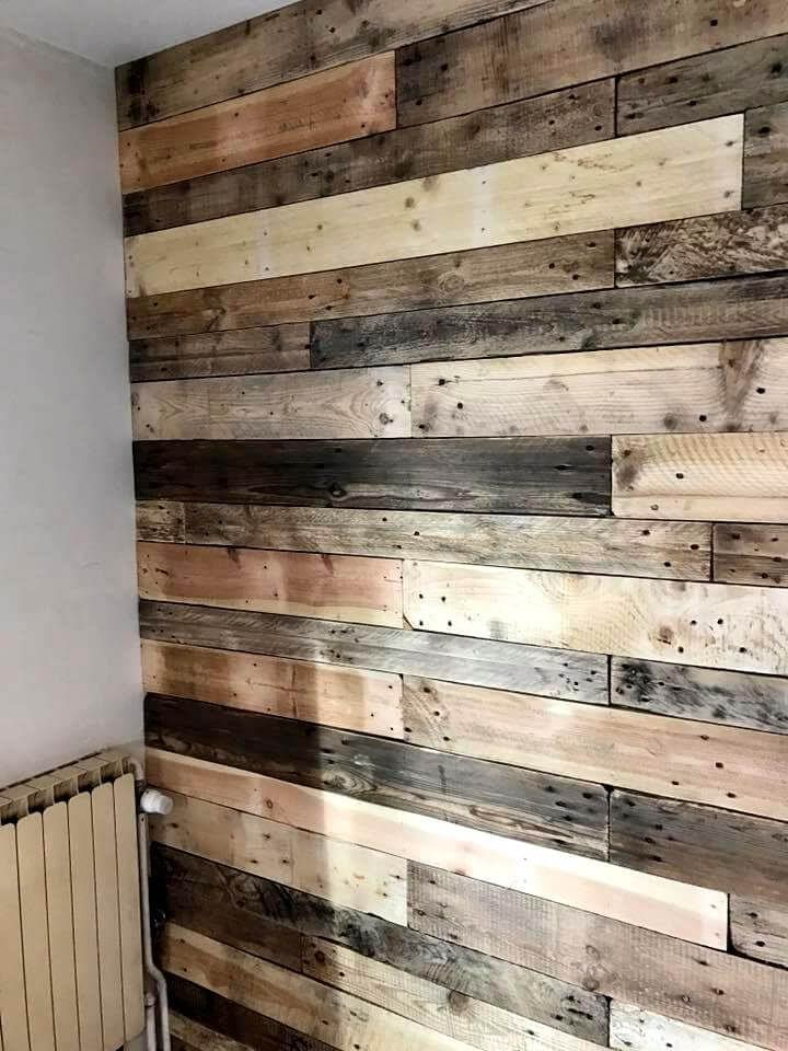 Diy Pallet Wall Paneling Wall Cladding Wall Paneling
