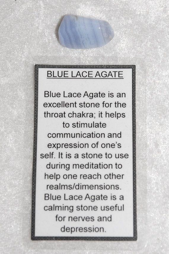 Blue Lace Agate - Tumbled Gemstone - Chakra