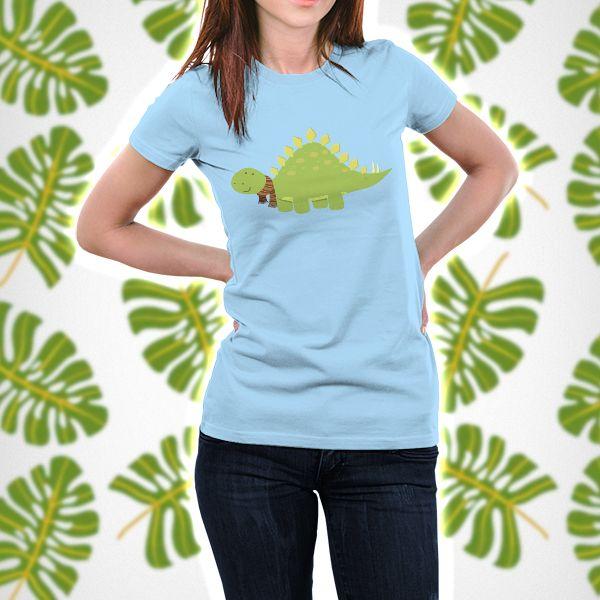 ScarfTegosaurus Dinosaur Pun T-shirt by AnishaCreations #dinosaurs #funny #animals #puns #thirsts #cartoons #tees #giftideas #adorable #dinos