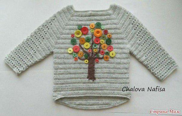 suéter de los niños con una decoración botón de descolgar. Discusión sobre LiveInternet - Servicio de Rusia Diarios Online