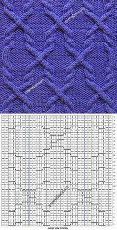 392 узор из жгутов   каталог вязаных спицами узоров