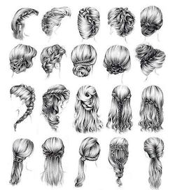 love hair cute Black and White perfect girly hairstyles braids