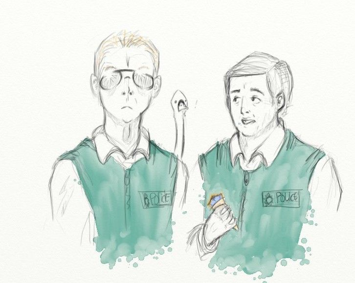 Hot Fuzz, cornetto 2 by madameLouise on DeviantArt