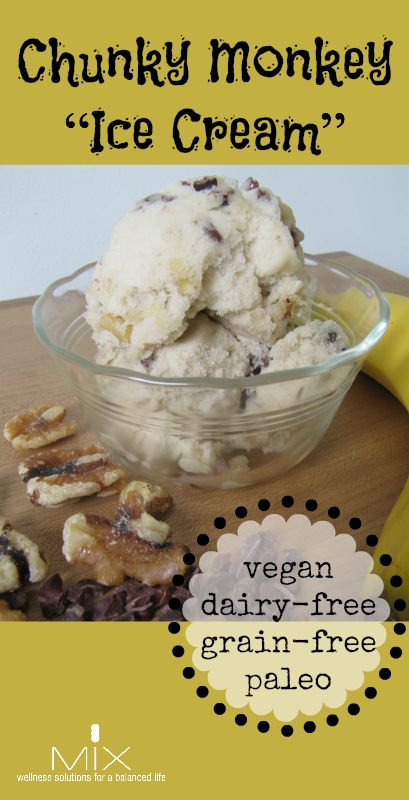 "Chunky Monkey ""Ice Cream"" {Dairy-Free, Grain-Free, Vegan + Paleo} 