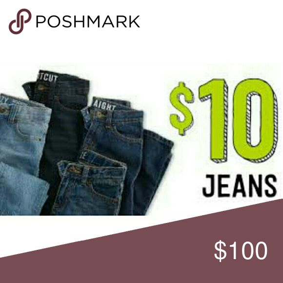 Limited Time! $10 Jeans Select jeans on sale for $10 for a limited time! Hurry up and grab them. Bundle discount too! AG Adriano Goldschmied Jeans
