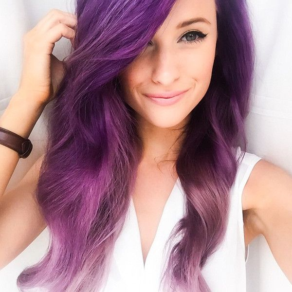 Nice purple hair color DIY dye work,lavender purple, love it so much~