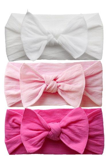 Baby Bling Bow Stretch Headband (3-Pack) (Baby Girls) (Online Only) available at #Nordstrom