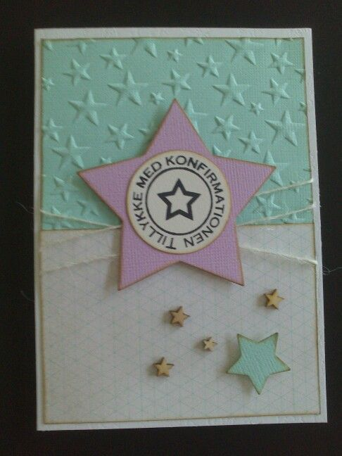Konfirmationskort med stjerne
