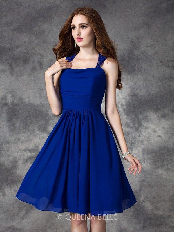 #QueenaBelle #Bright #Mini Chiffon #Bridesmaid #Dresses
