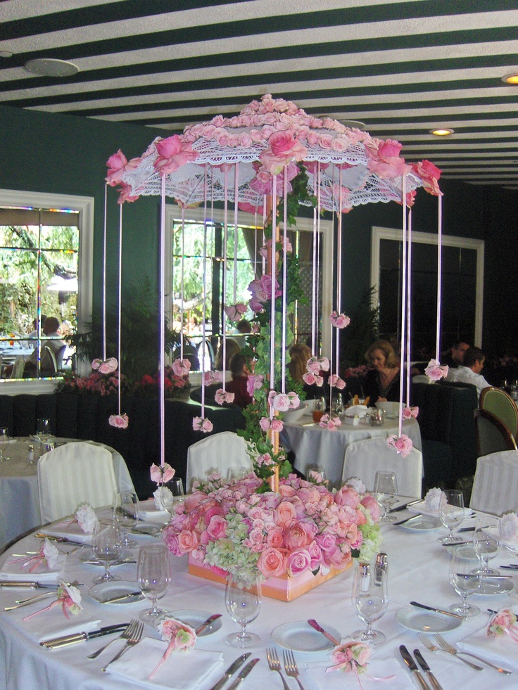 Luncheon for a baby shower centerpiece at polo lounge