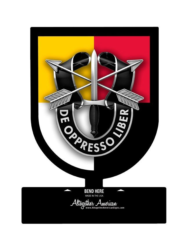 3rd Special Forces Group Table Top Sign