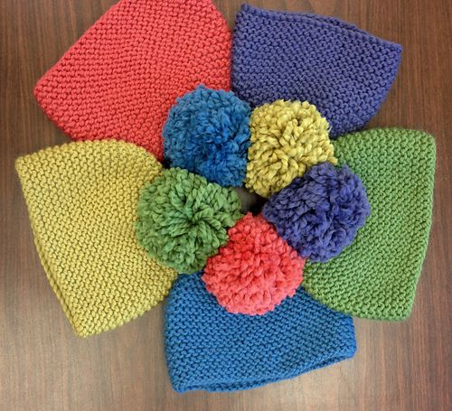 This garter stitch hat, knit in Tobaggan is a quick and easy remedy to cold ears. Worked either in the round or flat and then seamed up, this hat is a great way to add some color to the last days of your winter wardrobe. Add a pompom to the top to give it an extra sense of whimsy.