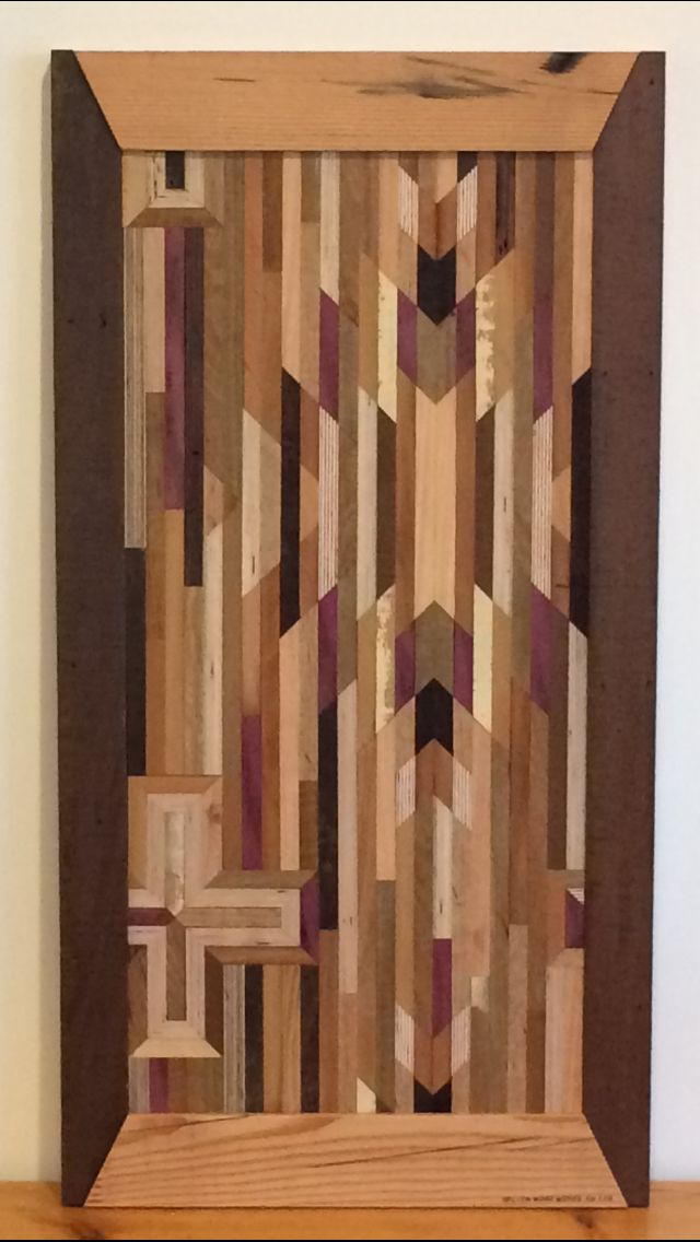 Aztec reclaimed wood art by ReLION WOOD WORKS