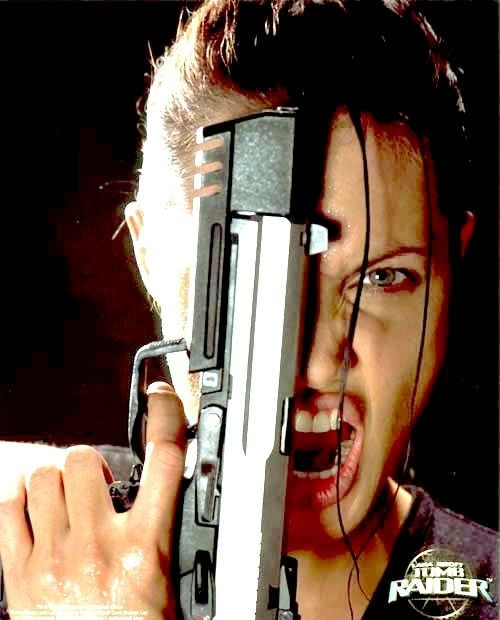 angelina jolie as lara croft! this picture is awesome!
