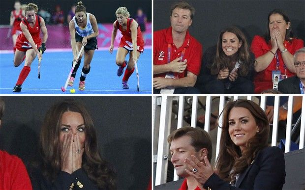 Former hockey captain Duchess of Cambridge cheers on Team GB at the Olympics