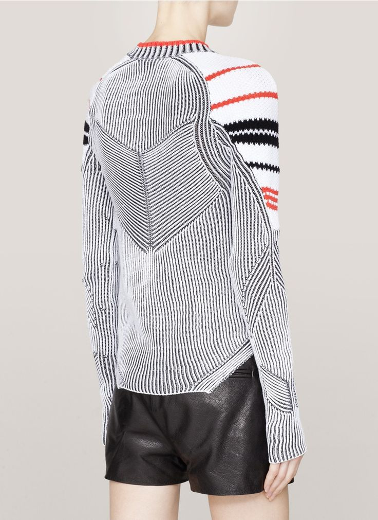 ALEXANDER WANG - Ribbed contrast-knit sweater - on SALE | Multi-colour Long Sleeve Knitwear | Womenswear | Lane Crawford - Shop Designer Brands Online
