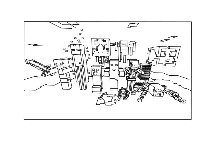 minecraft axe coloring pages - photo #34