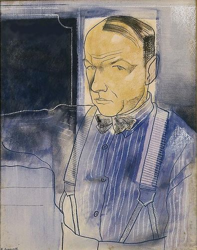 Yuri Annenkov, self potrait