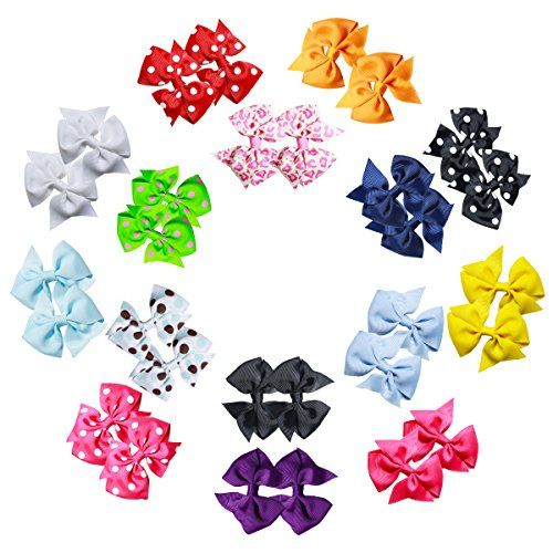 30 Pcs 15 pairs 3 Inch Pinwheel Polka DIY Hair Bows For Craft Project Sewing Hair Clips Scrapbooking * Click image to review more details.(This is an Amazon affiliate link and I receive a commission for the sales)