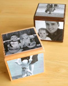 diy fathers day gift - mod podge photo cube