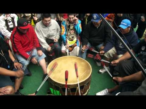 I remember the first time my son was called by the elders into the drum circle...big lump in my throat and so very proud~ Midnight Express, Saddle Lake Powwow 2011. Native American drumming and chanting.