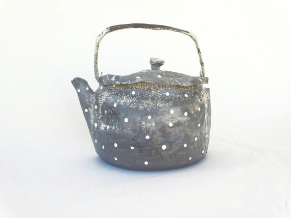 papier mache teapot bag purse free shipping grey by papiera