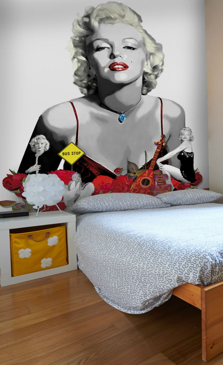 Kiss Marilyn Monroe Goodnight With This Marilyn Monroe Wall Mural For Part 85