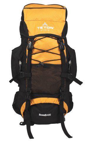 TETON Sports Scout 3400 Internal Frame Backpack (Mecca Orange) - http://www.campingandsleepingbags.com/teton-sports-scout-3400-internal-frame-backpack-mecca-orange/