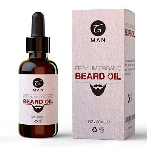 Organic Beard Oil  Natural Moisturizer for Facial Hair  Skin Care Products by TG Man * Check out this great product.