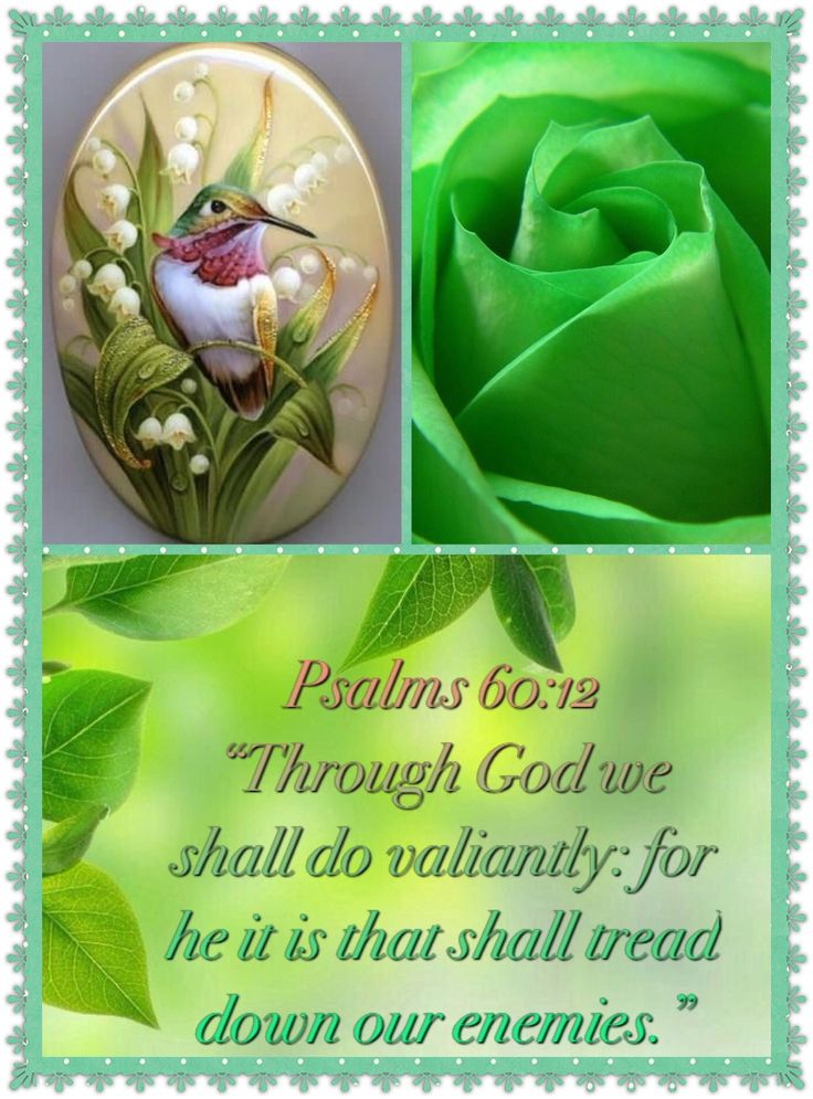 (Psalm 60:12) Through God we shall do valiantly: for he it is that shall tread down our enemies.