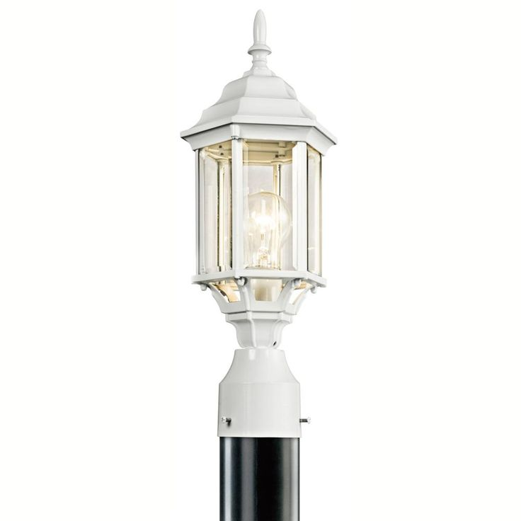 One light white post light l5l2z dulles electric supply corp outdoor lightingwhite