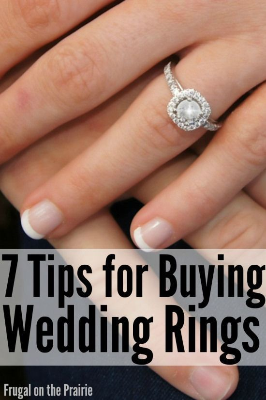 Don't set yourself up in insurmountable debt for a wedding ring! Here are a few tips for buying wedding rings to help you save money for the Big Day.