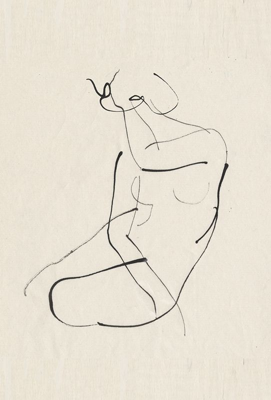 .Such a simple drawing but it has everything going for it.  Would love to know the artist's name.