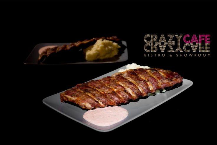Crazy Ribbs & Crazy Sause: pork ribbs and soucream sauce