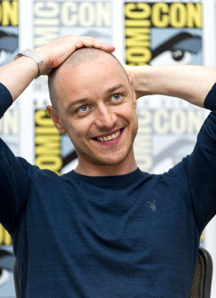This bald James is brought to you by his next movie Split which will be out Jan 2017.