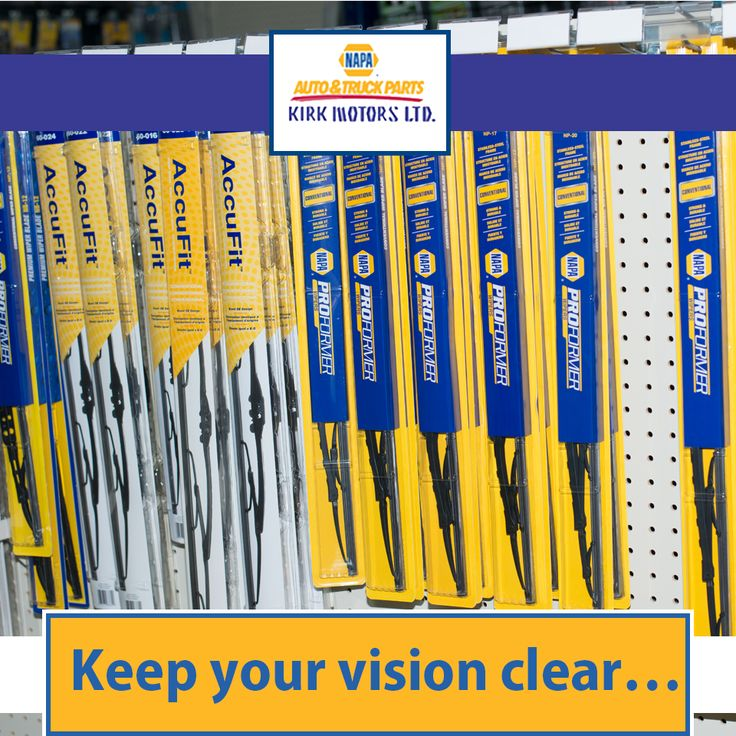 Keep your vision clear… make sure your screen is clean!  We have a selection of windscreen wiper blades at both our locations.  #kirkmotors #Napa #Savannah #Countryside #parts #tools #caymanislands