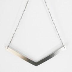 İnce Bumerang Kolye - #tasarim #tarz #gumus #rengi #moda #hediye #ozel #nishmoda #silver #colored #design #designer #fashion #trend #gift