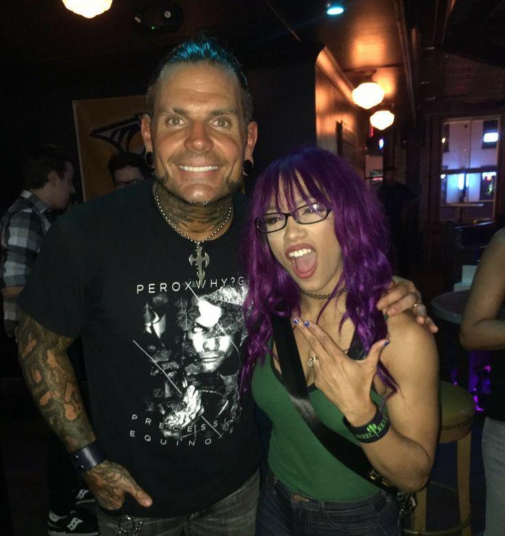 Jeff Hardy with Sasha Banks