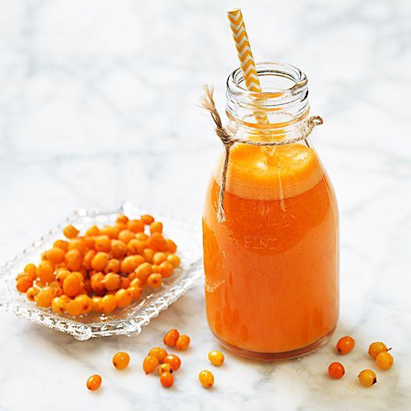 Morotsjuice med apelsin, havtorn och ingefära | Recept ICA.se