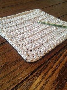 Pano de prato super simples em crochet! Faça um em cada cor.