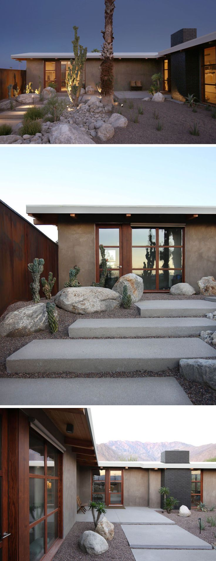 717 best mid century modern front entry landscaping images on