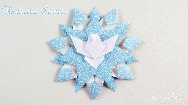 Como fazer um Espírito Santo de origami